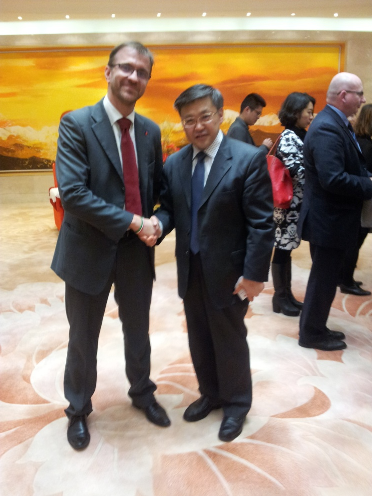 MR. CARLO DIEGO D'ANDREA MET CHENGDU'S DEPUY MAYOR MR. GOU ZHENGLIN