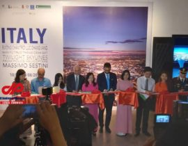 """Exhibition: """"ITALY – Twilight skylines from Police helicopters"""" in Vietnam"""
