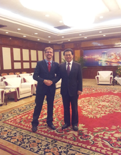 MR. CARLO DIEGO D'ANDREA MET THE DEPUTY MAYOR OF CHONGQING, MR. WENG JIEMING