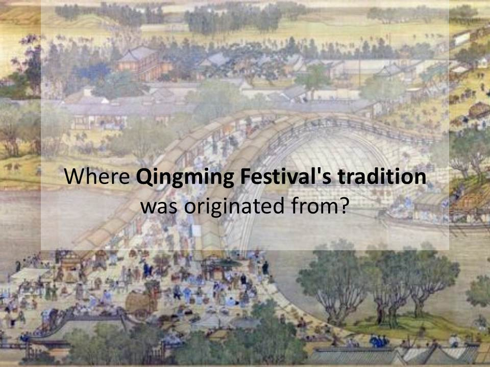 Where Qingming Festival's tradition was originated from?